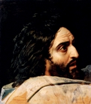 John the Baptist - study for painting 'Christ Among the People'.  Ivanov, Aleksandr Andreevich, 1806-1858  Click to enter image viewer  Use the Save buttons below to save any of the available image sizes to your computer.