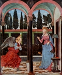 Annunciation to Mary.  Baldovinetti, Alesso, 1425-1499  Click to enter image viewer  Use the Save buttons below to save any of the available image sizes to your computer.