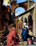 Birth of Christ.  Dürer, Albrecht, 1471-1528  Click to enter image viewer  Use the Save buttons below to save any of the available image sizes to your computer.