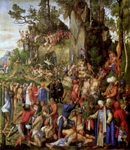 Martyrdom of 10,000 Christians.  Dürer, Albrecht, 1471-1528  Click to enter image viewer  Use the Save buttons below to save any of the available image sizes to your computer.