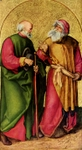 Joseph and Joachim.  Dürer, Albrecht, 1471-1528  Click to enter image viewer  Use the Save buttons below to save any of the available image sizes to your computer.