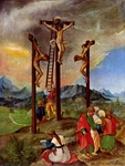 Crucifixion of Christ.  Altdorfer, Albrecht, ca. 1480-1538  Click to enter image viewer  Use the Save buttons below to save any of the available image sizes to your computer.