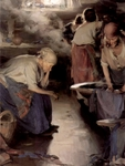 Washer Women.  Arkhipov, Abram Efimovich, 1862-1930  Click to enter image viewer  Use the Save buttons below to save any of the available image sizes to your computer.