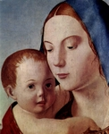 Madonna and Child, detail.  Antonello, da Messina, 1430?-1479  Click to enter image viewer  Use the Save buttons below to save any of the available image sizes to your computer.