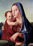 Madonna and Child.  Antonello, da Messina, 1430?-1479  Click to enter image viewer  Use the Save buttons below to save any of the available image sizes to your computer.
