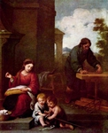 Holy Family with John the Baptist.  Murillo, Bartolomé Esteban, 1617-1682  Click to enter image viewer  Use the Save buttons below to save any of the available image sizes to your computer.