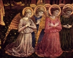 Angels, detail of altarpiece.  Benozzo, di Lese, 1420-1497  Click to enter image viewer  Use the Save buttons below to save any of the available image sizes to your computer.