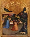 Nativity of San Pancrazio.  Daddi, Bernardo, fl. 1327-1348  Click to enter image viewer  Use the Save buttons below to save any of the available image sizes to your computer.