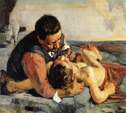Good Samaritan.  Hodler, Ferdinand, 1853-1918  Click to enter image viewer  Use the Save buttons below to save any of the available image sizes to your computer.