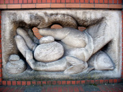 Hand of God with loaves and fish.  Unidentified  Click to enter image viewer  Use the Save buttons below to save any of the available image sizes to your computer.