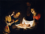 Adoration of the Child.  Honthorst, Gerrit van, 1590-1656  Click to enter image viewer  Use the Save buttons below to save any of the available image sizes to your computer.
