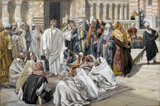 Pharisees Question Jesus.  Tissot, James, 1836-1902  Click to enter image viewer  Use the Save buttons below to save any of the available image sizes to your computer.