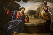 Christ and the Samaritan Woman.   Click to enter image viewer  Use the Save buttons below to save any of the available image sizes to your computer.